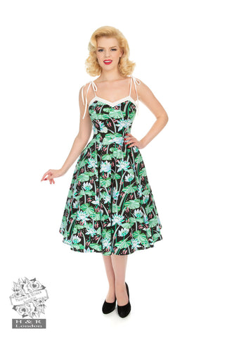 Glorious Tropical Swing Dress by Hearts & Roses