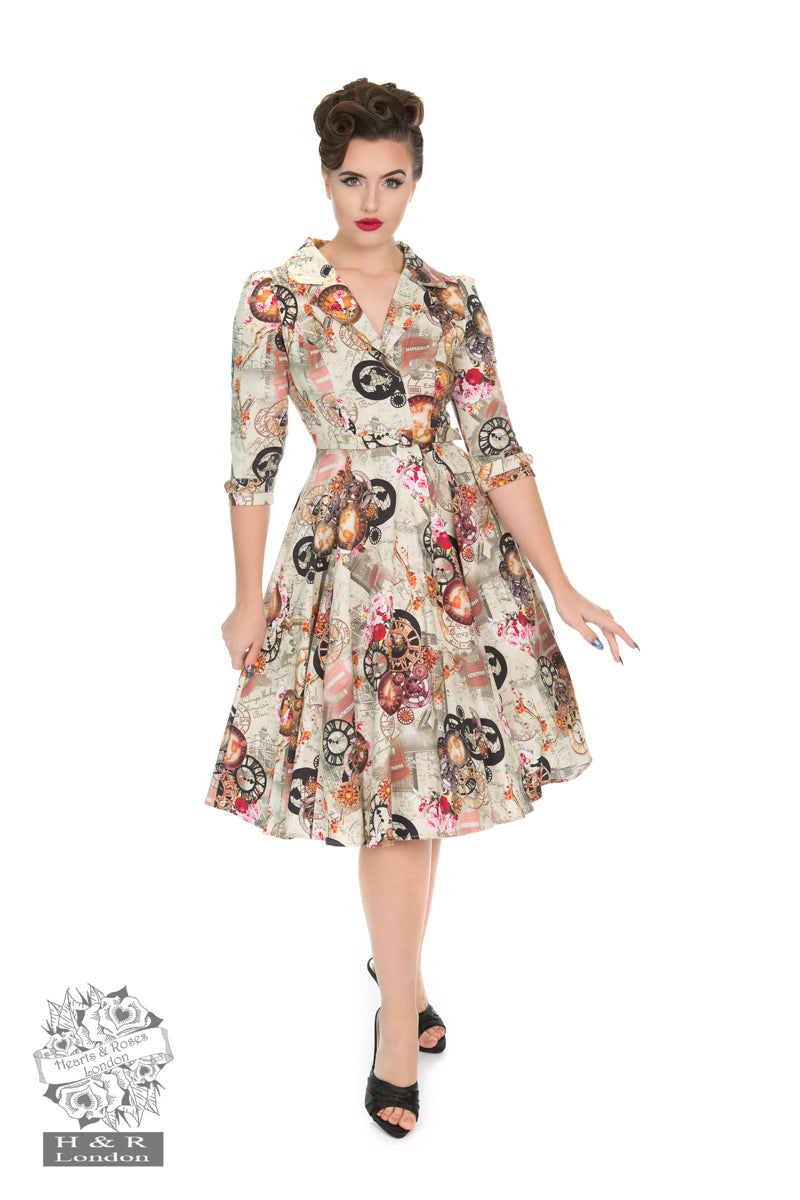 Heart Of London Swing Dress by Hearts & Roses
