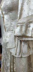 Beautiful 1940's Original handmade Brocade wedding dress.