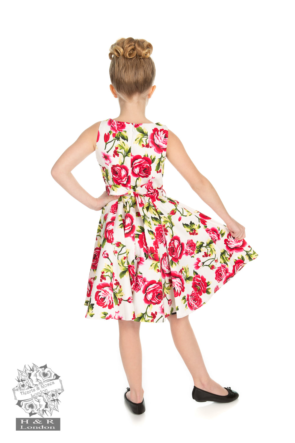 Kids Sweet Rose Swing Dress by H&R London