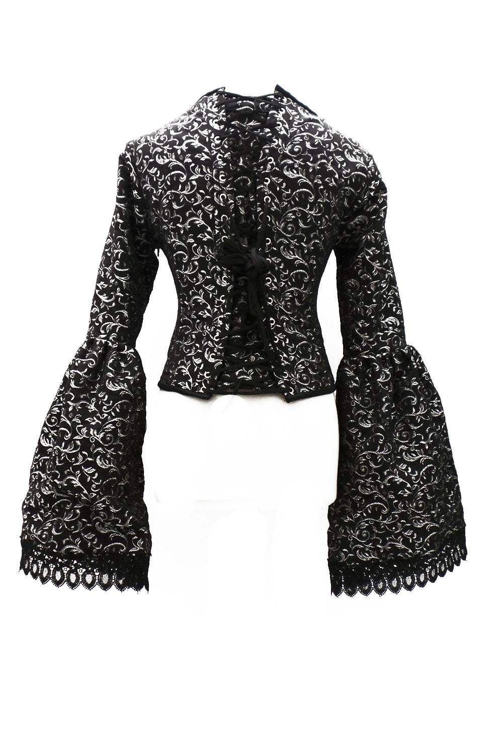 Medieval long-sleeved Steampunk brocade top