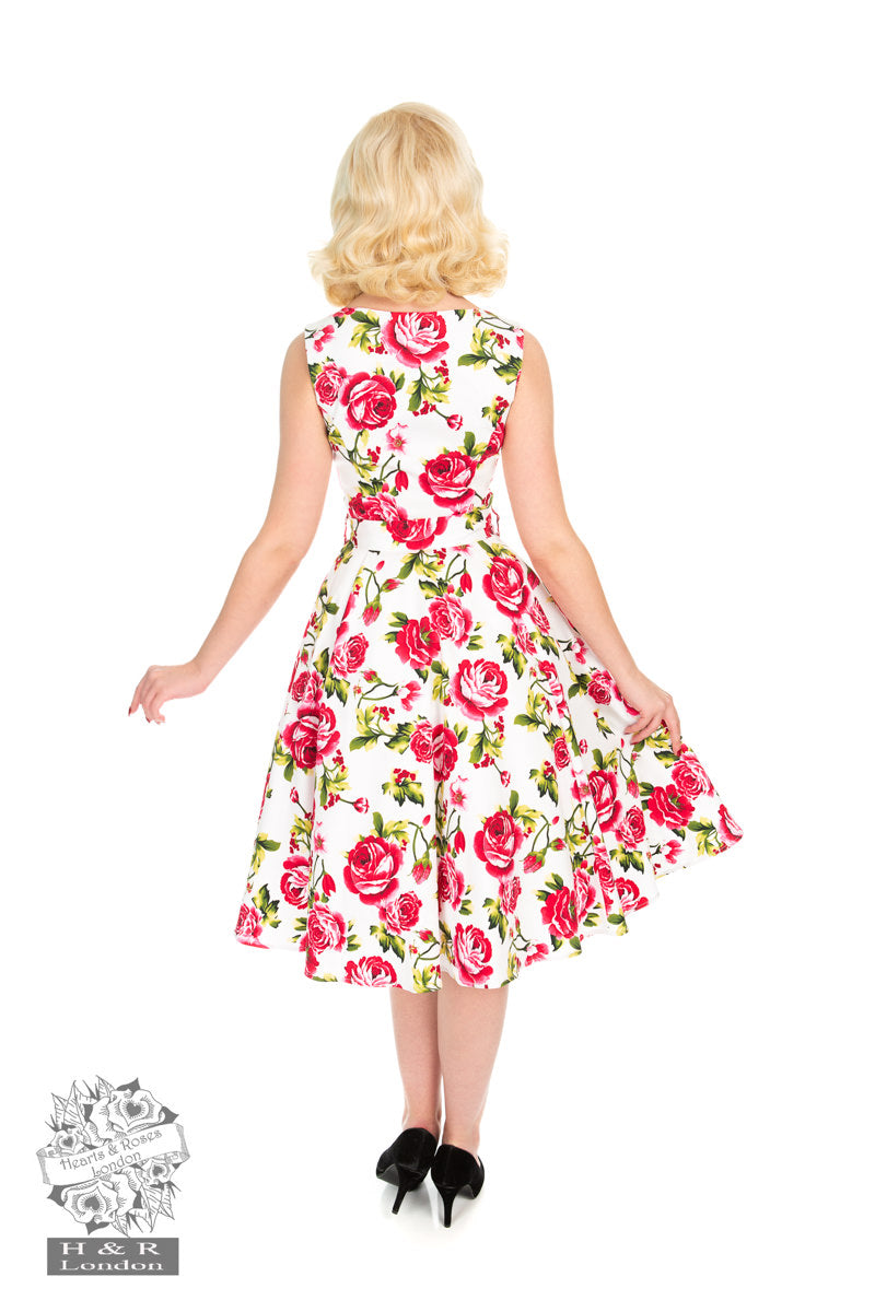 Sweet Rose Swing Dress by Hearts & Roses