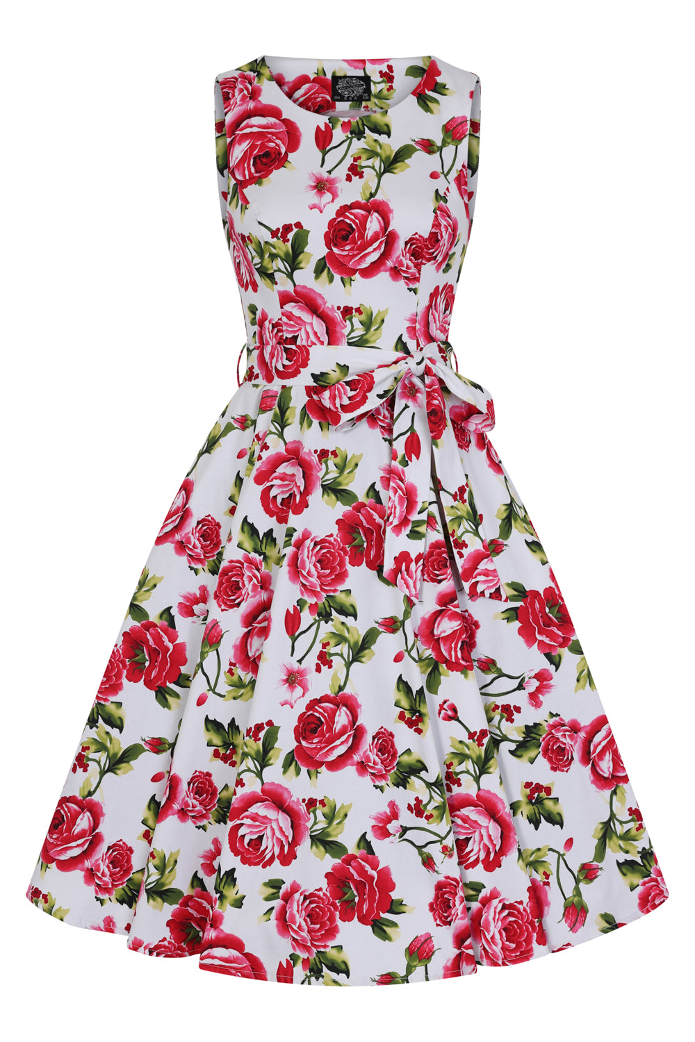 Sweet Rose Swing Dress Plus by H&R London
