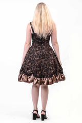 Time Clocks Rouched Steampunk Dress