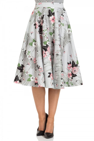 Primrose floral swing skirt by Voodoo Vixen