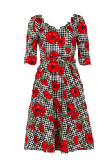 Suzanne poppy print dress by Voodoo Vixen