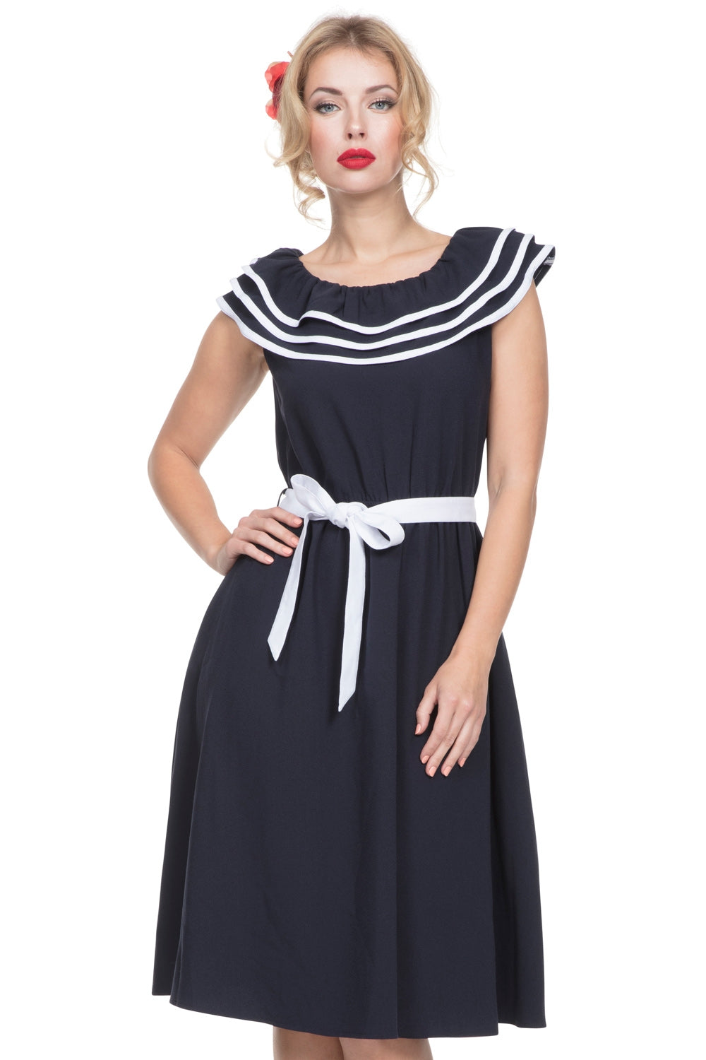Hope nautical dress with frills by Voodoo Vixen