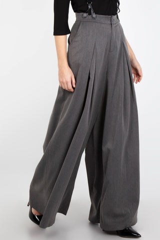 Khloe grey 40s style trousers by Voodoo Vixen
