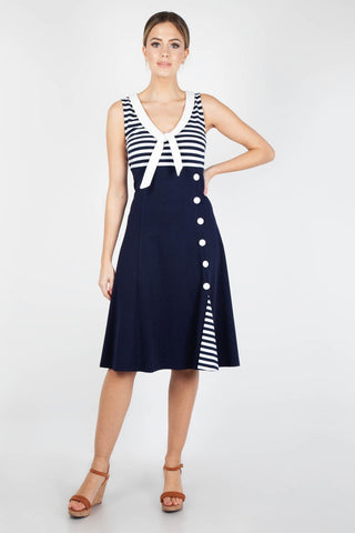 Vera nautical flared sailor dress by Voodoo Vixen