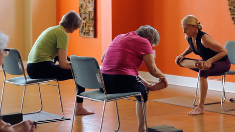 Benefits of chair yoga part 4 the yoga vibe for Chair yoga benefits