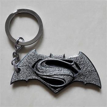 Grey Batman Vs Superman Inspired Metal Keychain