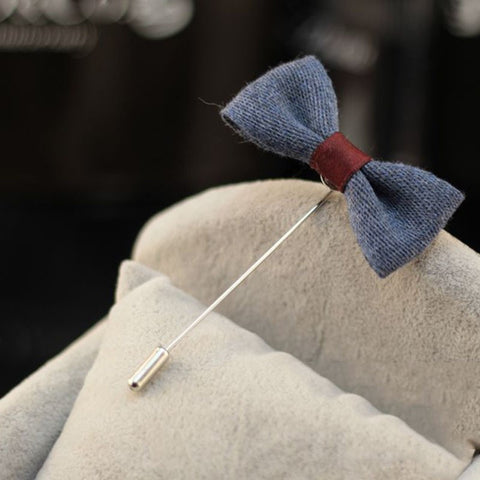 Classic Bow Tie Inspired Suit Pin