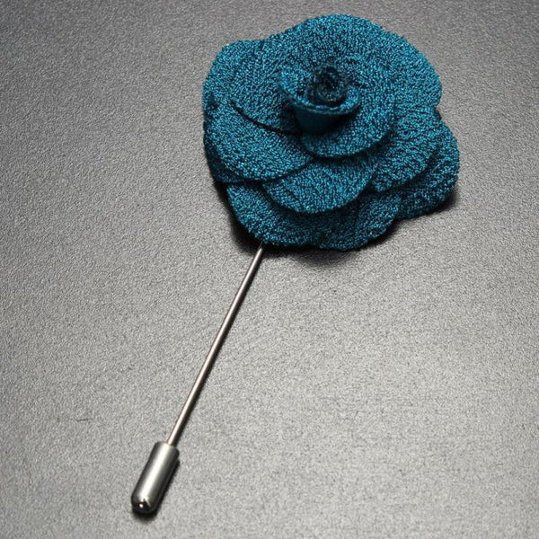 Pure Elegance Colourful Rose Suit Pin