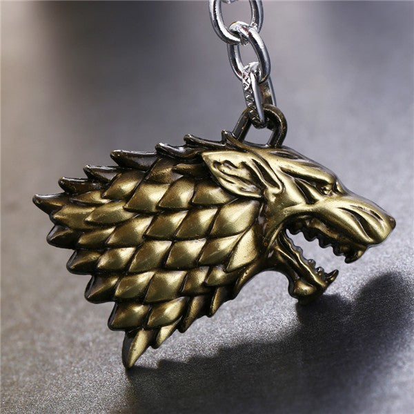 Game of Thrones Inspired Direwolf Keychain