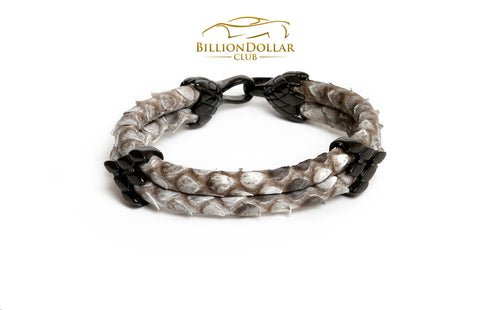 Natural Python Leather Bracelet