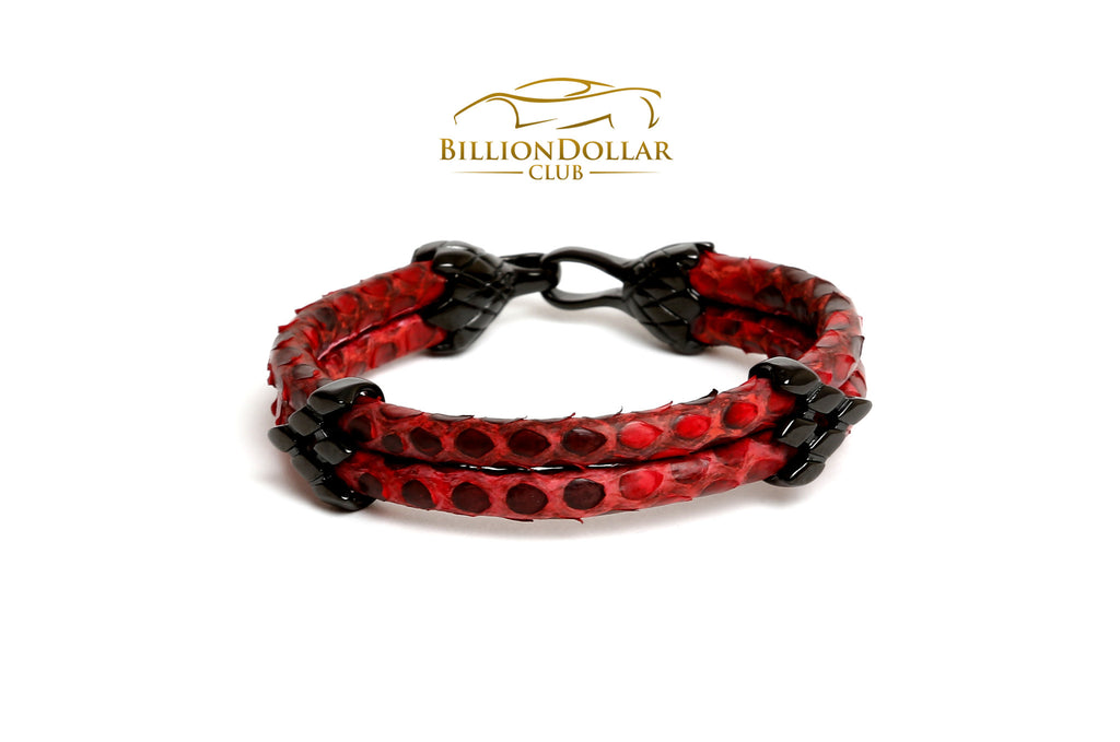 Red Python Leather Bracelet