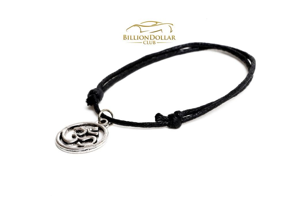OM Black Thread One Size Unisex Bracelet