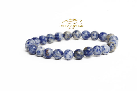 Planet Earth Natural Stone Mens Bracelet