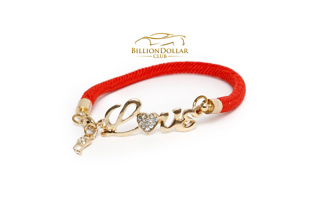 Ladies Red Love Bracelet - Classy Gift