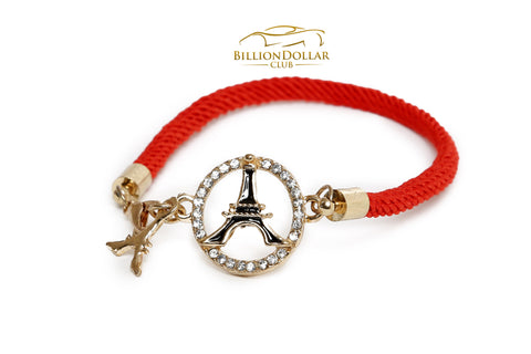 Ladies Red Paris Bracelet with Charms