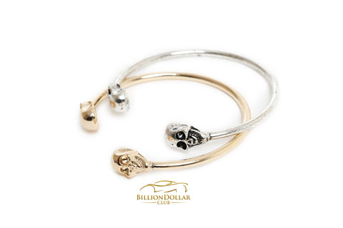 Simple Elegant Metal Skull Bracelet
