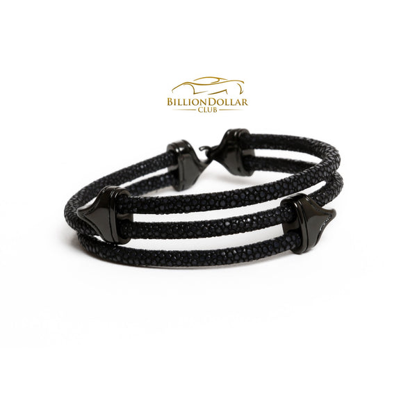 Black Stingray Limited Edition Leather Bracelet