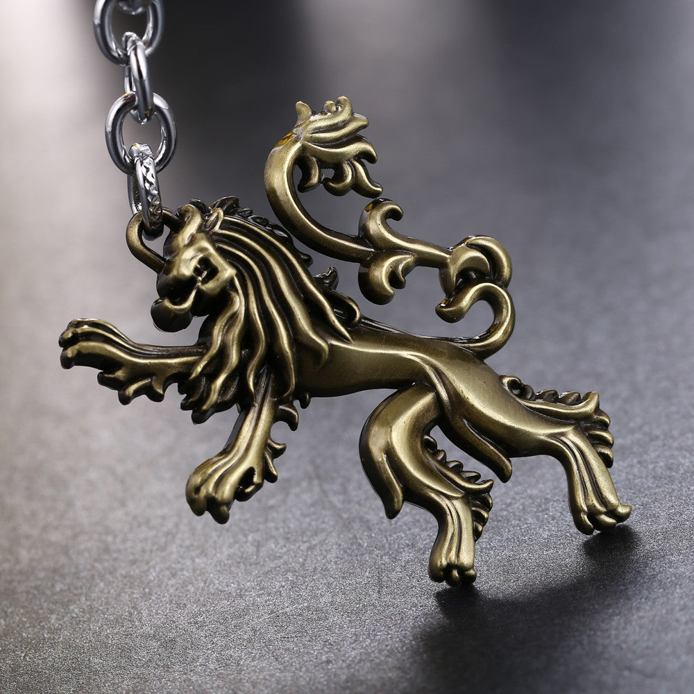 Game of Thrones Inspired Roaring Lannister Keychain