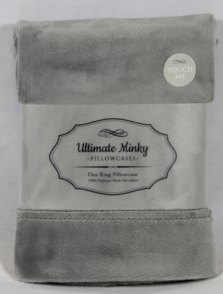 Gray Ultimate Minky Pillowcase