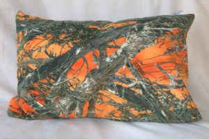 Orange Camouflage Travel Pillowcase