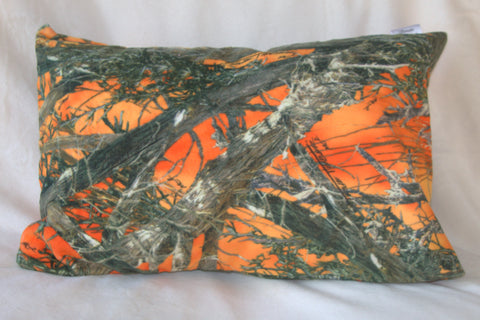 zzOrange Camouflage Travel Pillowcase