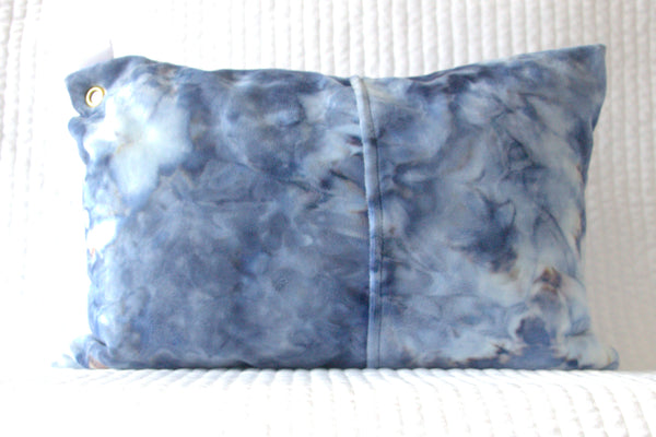 Tie Dye Blue Travel Pillowcase