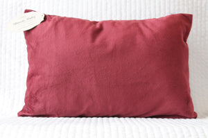 Burgundy Travel Pillowcase