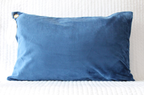 Deep Blue Travel Pillowcase