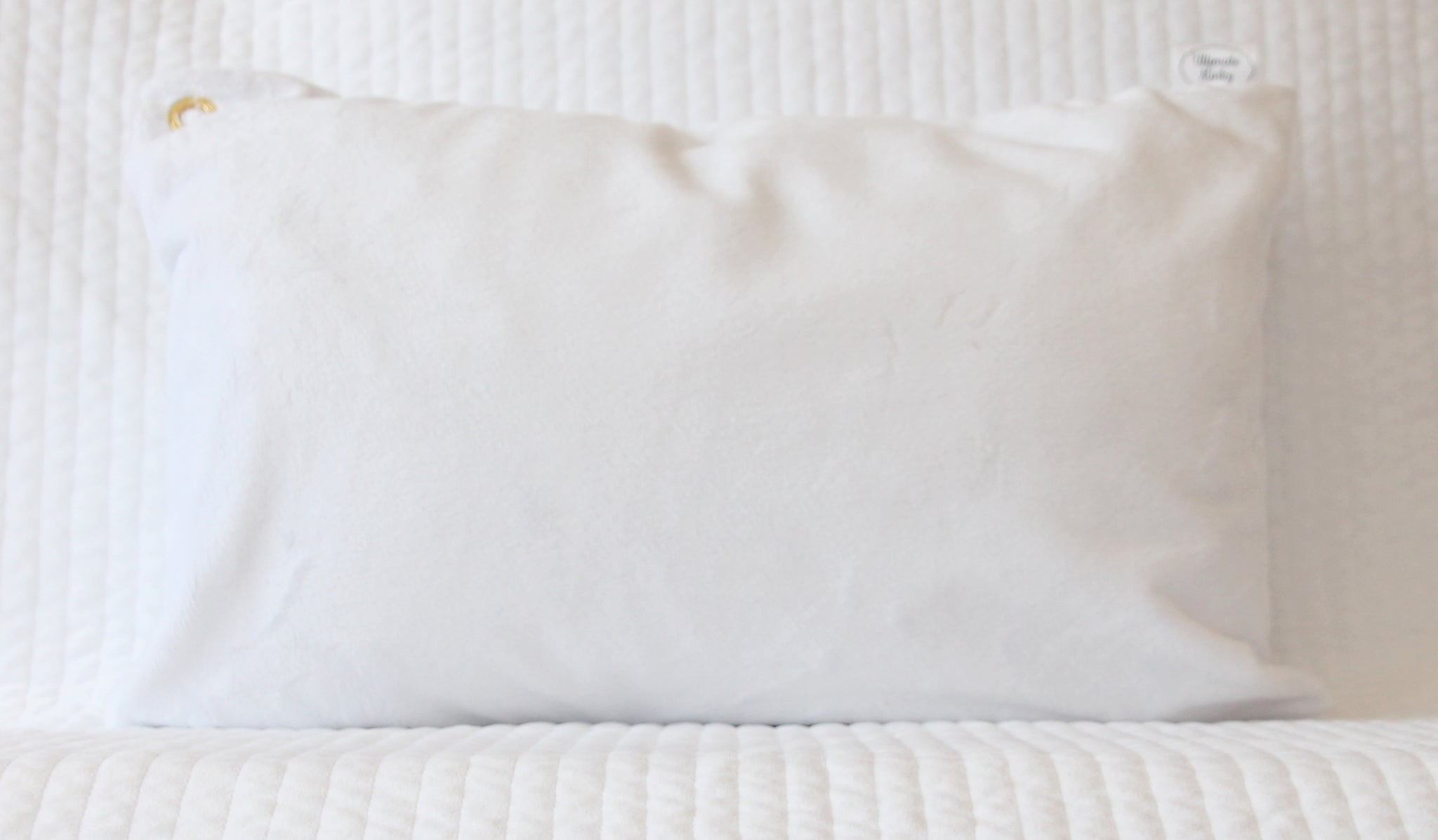 White Travel Pillowcase