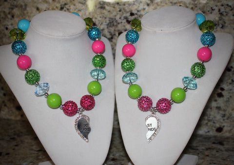 BFF (Best Friend Forever) Necklace Set for Girls