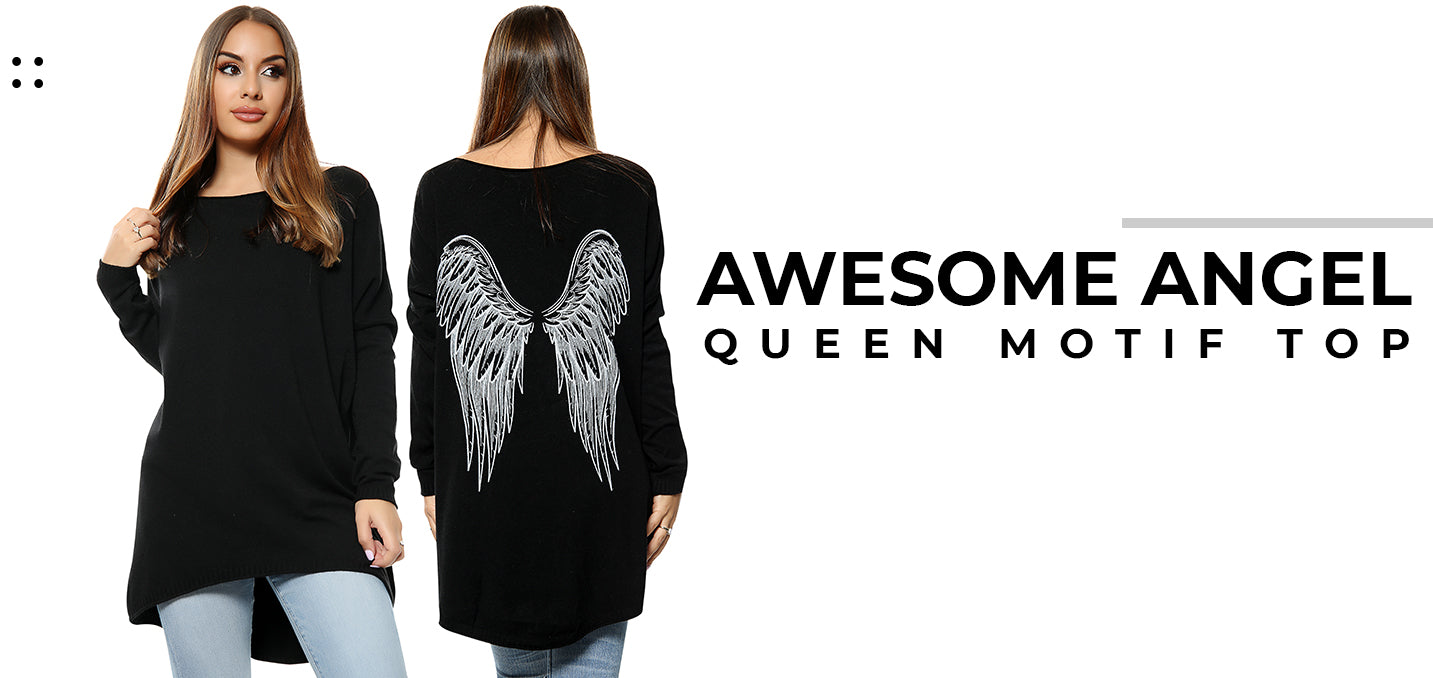 Awesome Angel Queen Motif Top