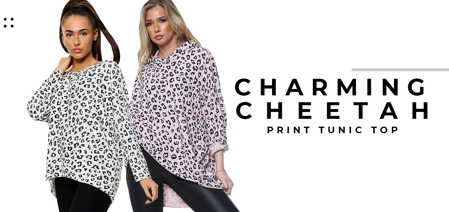 Charming Cheetah Print Tunic Top