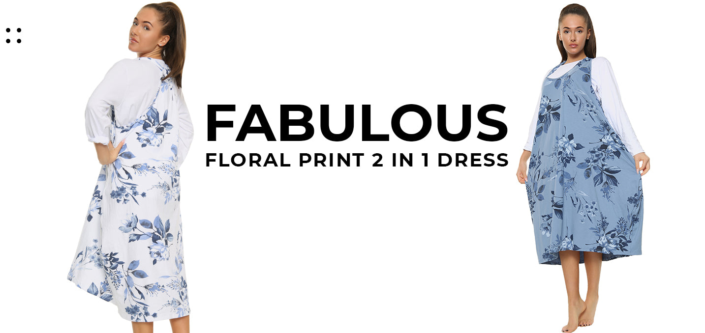 Fabulous Floral Print 2 In 1 Dress