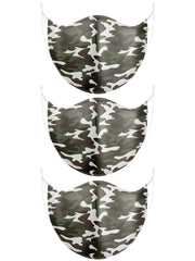Camouflage Print Cotton Face Mask_GRWO