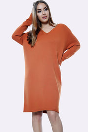 Italian Plain Oversized Dress