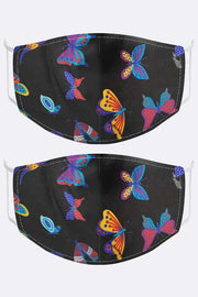 Butterfly Print Face Cover