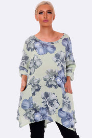 Allover Floral Print Woven Top