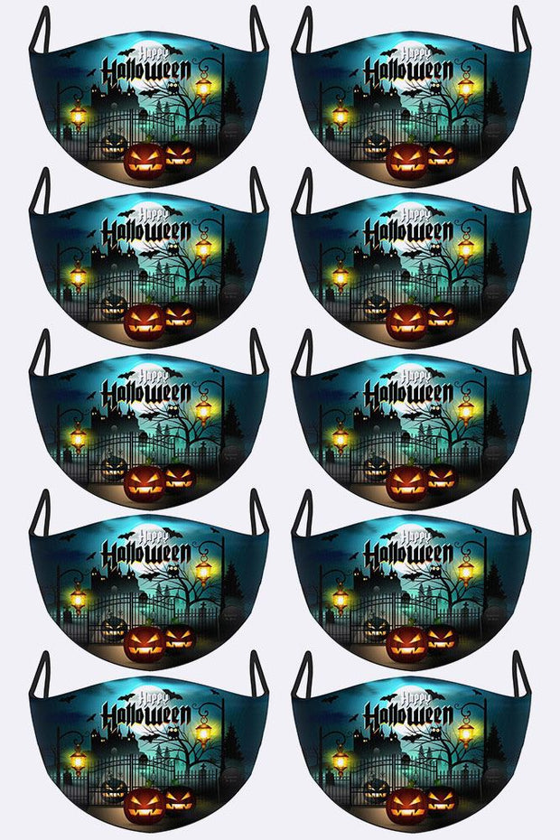 Scary Pumpkins Print Face Mask