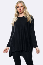 Oversized Wool Lagenlook Plain Top
