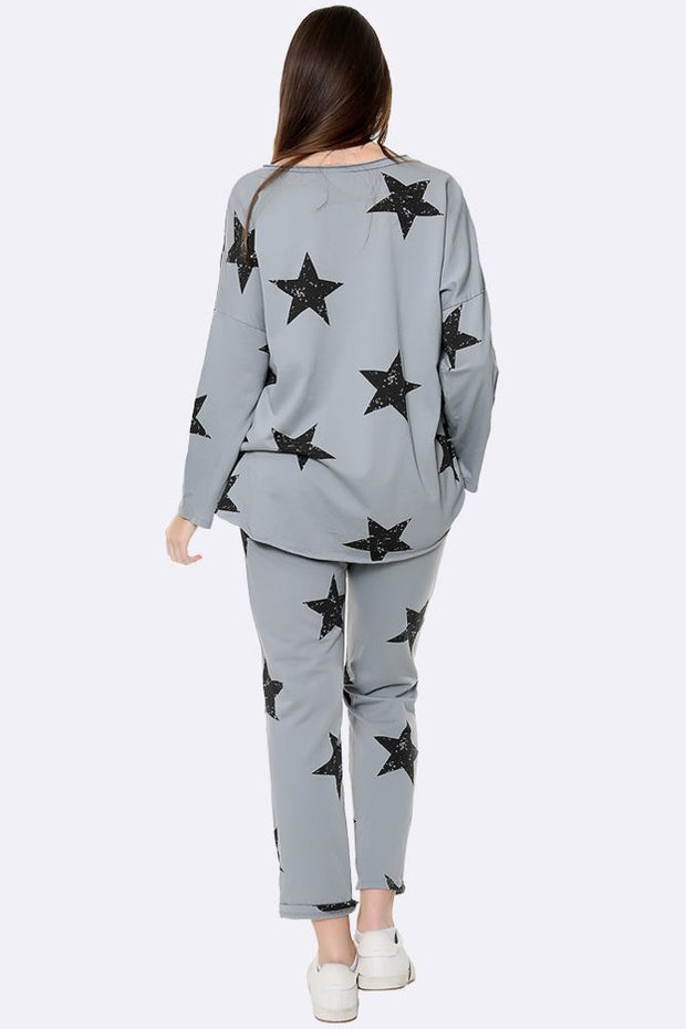 Italian Star Print  Loungewear Set