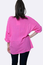 Italian Laser Cut Fabric Hem Top