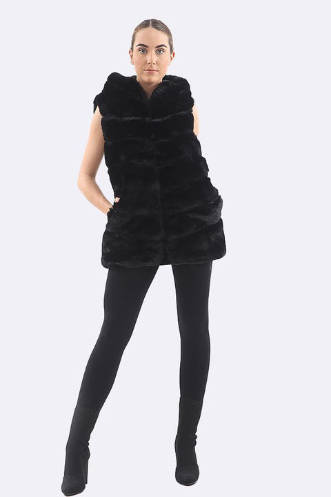 Alize Hooded Sleeveless Vest Gilet - Love My Fashions - Womens Fashions UK