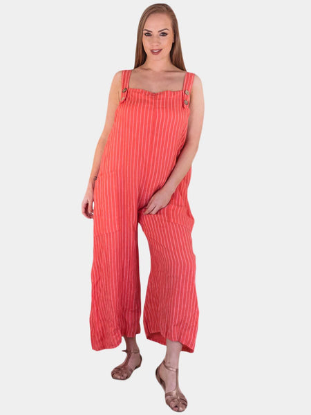 Brooke Striped Pocket Dungaree - Love My Fashions - Womens Fashions UK