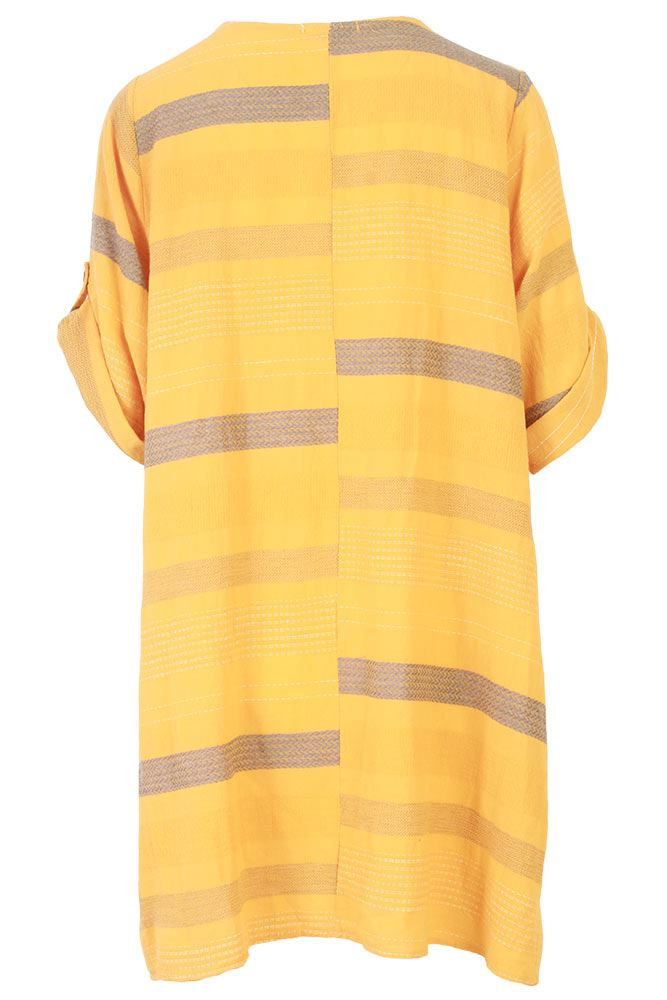 Megan Cotton Stripe Tunic Top - Love My Fashions - Womens Fashions UK