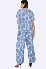 Italian Bubble Print Top & Culotte Set